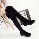 777.78 руб. 15% СКИДКА|Высокие сапоги до бедра; женские зимние сапоги; женские ботфорты; пикантная модная обувь на плоской подошве; модель 2018 года; Цвет Черный-in Ботинки закрывающие колени from Туфли on Aliexpress.com | Alibaba Group