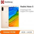 9773.36 руб. |Оригинальный Xiaomi Redmi Note 5, 4 Гб ОЗУ, 64 Гб ПЗУ, Восьмиядерный процессор Snapdragon 636 5,99