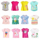 Kids Girl T Shirt Summer Baby Cotton Tops Toddler Tees Clothes Children Clothing Cartoon T-shirts Short Sleeve Casual Wear