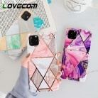 LOVECOM Geometric Marble Phone Cases For iPhone 11 Pro Max XR XS Max 6 6S 7 8 Plus X Soft IMD Electroplated Back Cover Coque on AliExpress