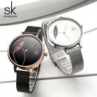 889.66руб. 82% СКИДКА|Shengke, женские модные часы, креативные Женские повседневные часы, нержавеющая сталь, сетчатый ремешок, стильный дизайн, серебряные кварцевые часы для женщин-in Женские часы from Ручные часы on AliExpress - 11.11_Double 11_Singles' Day