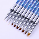 US $2.29 |NICOLE DIARY UV Gel Brush Liner Painting Pen Acrylic Drawing Brush for Nails Gradient Rhinestone Handle Manicure Nail Art Tool-in Nail Brushes from Beauty & Health on AliExpress - 11.11_Double 11_Singles' Day