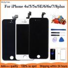 AAA + + + ЖК-дисплей для iPhone 6 7 8 6S Plus Замена сенсорного экрана для iPhone 5 5C 5S SE без битых пикселей + закаленное стекло + Инструменты + ТПУ