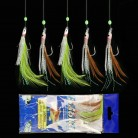 US $1.13 31% OFF|5PCS/Set 5 Combination Fishhook Fishing Lure Set Artificial Silicone Bait False skin Luminous Bead Flies Rattlin Sabiki -in Fishhooks from Sports & Entertainment on Aliexpress.com | Alibaba Group