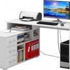 Стол компьютерный  МАСТЕР Барди-2,  белый