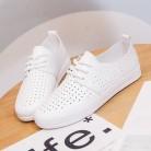1143.74 руб. 31% СКИДКА|Женская Белая обувь; кроссовки; сезон лето весна 2019 года; дышащие однотонные женские черные туфли с отверстиями; кожаная обувь на плоской подошве; Chaussure Femme-in Женская вулканизированная обувь from Туфли on Aliexpress.com | Alibaba Group