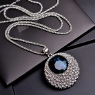 US $3.59 24% OFF|Vintage Blue Crystal Long Necklace Women Bijoux Fashion Jewelry Necklaces & Pendants Classic Gift Ethnic Style-in Pendant Necklaces from Jewelry & Accessories on Aliexpress.com | Alibaba Group