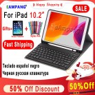 Case for iPad 10.2 Keyboard Case with Pencil Holder for Apple iPad 7 7th Generation A2197 A2198 Russian Spanish English Keyboard