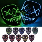 US $6.41 5% OFF|Halloween Christmas Party Mask 3 Modes Scary Mask Cosplay Led Costume Mask EL Wire Light Up The Purge Horror mascara halloween-in Party Masks from Home & Garden on Aliexpress.com | Alibaba Group
