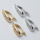 popular DIY Earrings Clasps Hooks for Woman Handmade Jewelry Making Accessories Fashion Design Hollow Earrings Hooks
