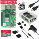 US $57.39 18% OFF|Original Raspberry Pi 4 Model B 1/2/4GB RAM + Case + Fan + Heat Sink + Power Adapter + 32/64 GB SD Card + HDMI Cable for RPI 4B-in Demo Board from Computer & Office on AliExpress