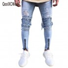 US $19.71 32% OFF|QoolXCWear Brand Designer Slim Fit Ripped Jeans Men Hi Street Mens Distressed Denim Joggers Knee Holes Washed Destroyed Jeans-in Jeans from Men's Clothing on Aliexpress.com | Alibaba Group