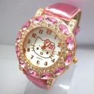 152.29 руб. 5% СКИДКА|Лидер продаж, милые часы Hello Kitty для девочек, женские модные Кристаллы, платье, кварцевые наручные часы, детские часы 1072 купить на AliExpress