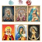 Сделай Сам Вышивка с кристаллами 6 фото икона 5d Алмазная мозаика Новый год украшения подарок купить на AliExpress