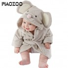 US $11.88 20% OFF|Cute Boys Girls cartoon animal hooded towelling robe Bathrobe coral fleece sleepwear Infant Bathing robe long Baby Clothing P20-in Robes from Mother & Kids on Aliexpress.com | Alibaba Group