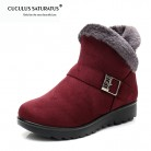 € 11.95 40% de réduction|Cuculus hiver femmes bottines nouvelle mode troupeau Wedge plate forme hiver chaud rouge noir bottes de neige chaussures pour femme 1671-in Bottes de neige from Chaussures on Aliexpress.com | Alibaba Group