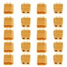 113.19 руб. 16% СКИДКА|XT60 XT 60 штекерно Штепсель провод с силикатной гелевой обмоткой для Батарея 10/20 шт (5 пар/10 пар в комплекте), оптовая продажа купить на AliExpress