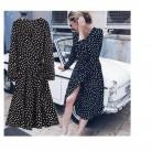 816.37 руб. 15% СКИДКА|платье женское платья женские 2018 осень Для женщин в горошек шифоновое платье зимние Для женщин длинное платье Винтаж вельветовое платье с цветочным рисунком-in Платья from Женская одежда on Aliexpress.com | Alibaba Group