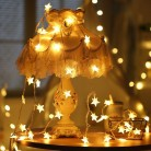 751.7 руб. 31% СКИДКА|10 м 100 светодиодный Star светодиодный строки Рамадан украшения свет фестиваль праздник Рождество Фея Света вечерние Главная Свадебные украшения купить на AliExpress