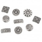 Urijk 50PCs Mixed Metal Buttons For Clothes Decorative Engraved Jeans Shanked Buttons for needlework Sewing Scrapbooking DIY-in Buttons from Home & Garden on Aliexpress.com | Alibaba Group