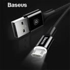 162.19 руб. 20% СКИДКА|Baseus светодиодный освещения Micro USB кабель для Xiaomi Redmi 4x Примечание 4 5 обратимым микро Зарядка через usb кабель для samsung S7 мобильного телефона купить на AliExpress