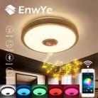EnwYe 23 Вт RGB светодиодная музыкальная Bluetooth потолочная лампа 220В современная светодиодная потолочная лампа с регулируемой яркостью
