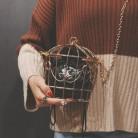 1505.13руб. 44% СКИДКА|Женская вечерняя сумка в клетку, клатч с металлической рамкой и вышивкой, мини сумка в клетку для птиц, женская сумочка с золотыми кисточками-in Вечерние сумки from Багаж и сумки on AliExpress