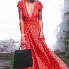 1473.78 руб. |Wavaiov 2018 Лето точка глубокий v образный вырез короткий рукав Сплит Женщины Вечерние Повседневная Вечеринка Пляж Макси длинное платье Vestido S XXL плюс размер on Aliexpress.com | Alibaba Group