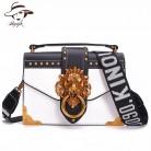 1239.75 руб. 37% СКИДКА|Модная металлическая Львиная головка мини небольшой квадратный пакет сумка через плечо клатч женский дизайнерский кошелек сумки Bolsos Mujer купить на AliExpress