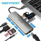 945.29 руб. 30% СКИДКА|Vention Thunderbolt 3 док USB C концентратора Тип C к HDMI USB 3,0 RJ45 адаптер для MacBook samsung S8/S9 huawei P20 Pro usb c адаптер купить на AliExpress