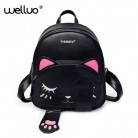 US $14.26 47% OFF|Cute Cat Backpack School Women Pu Leather Backpacks for Teenage Girls Funny Cats Ears Canvas Shoulder Bags Female Mochila XA531B-in Backpacks from Luggage & Bags on Aliexpress.com | Alibaba Group