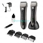Машинка с керамическими лезвиями для стрижки волос, бороды и усов Gemei GM-820 триммер с экраном
