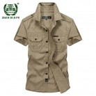 US $23.35 27% OFF|Plus Size M 5XL 2018 Summer men's casual brand short sleeve shirt man 100% pure cotton afs jeep khaki shirts army green clothing-in Casual Shirts from Men's Clothing on Aliexpress.com | Alibaba Group