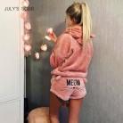 JULY'S SONG Women Pajama Sets 2019 Autumn Winter Flannel Cartoon Warm Pyjamas Animal Sleepwear Cat Female Pajama Women Homewear