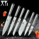 XYj нержавеющая сталь кухонные ножи набор фруктов для очистки овощей утилита Santoku шеф повар нарезки хлеба японский кухонный нож набор купить на AliExpress