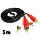 130.18 руб. |Tofoco 2 RCA разъем стерео двойной RCA аудио Динамик мужчинами Соединительный кабель 1,5 м 3 м on Aliexpress.com | Alibaba Group