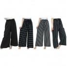 506.67 руб. 21% СКИДКА Летние Новые Полосатые стильные черные свободные укороченные повседневные брюки с высокой талией женские шифоновые широкие брюки большого размера-in Штаны и капри from Женская одежда on Aliexpress.com   Alibaba Group