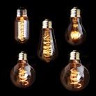 304.64 руб. 30% СКИДКА|T45 A19 ST64 G80 G95 G125, лампа со спиралью светодиодный Лампа накаливания, 3 W 2200 K, ретро Винтаж лампы, декоративное освещение, затемнения купить на AliExpress