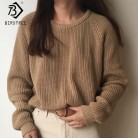 US $17.01 45% OFF|Korean Fashion Ladies Full Sleeve Women Knitting Sweater Solid O Neck Pullover And Jumper Loose Sweater Hot Sale S80209Q-in Pullovers from Women's Clothing on Aliexpress.com | Alibaba Group