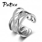US $2.68 91% OFF|PATICO New Hot Punk Jewelry S90  Color Austrian Crystal Weave Stylish Opening Adjustable Size Rings For Woman Girls-in Rings from Jewelry & Accessories on Aliexpress.com | Alibaba Group