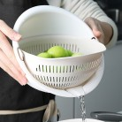 Kitchen Double Layers Drain Basket Washing Strainer Noodles Vegetables Fruit Gift Home Kitchen Storage Bowl High Quality