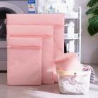 83.67руб. 21% СКИДКА|Розовая Сетчатая Сумка для стиральной машины для бюстгальтера, нижнего белья, носков, защитные сумки для стирки, переносная сетка для стирки, сумка для хранения одежды-in Сумки и корзины для белья from Дом и животные on AliExpress
