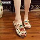 1104.19 руб. 35% СКИДКА|Veowalk/модные женские шлепанцы; повседневные сандалии; удобная мягкая женская обувь с вышивкой в китайском стиле; zapatos mujer-in Тапочки from Туфли on Aliexpress.com | Alibaba Group