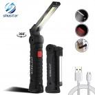 USB Перезаряжаемый COB светодио дный светодиодный фонарик рабочий свет инспекционный свет 5 режимов задний магнит дизайн подвесной фонарь лампа 2 размера водостойкий купить на AliExpress