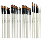 US $2.73 28% OFF|6PCS Pearl White Wooden Pole Bicolor Nylon Hair Watercolor Brush Set Art Supplies For Children Students-in Paint Brushes from Office & School Supplies on Aliexpress.com | Alibaba Group