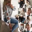 Новый Для женщин лук выдалбливают теплый Лонгслив Свитера, пуловеры Вязание лук свободные круглым вырезом Блузка трикотаж купить на AliExpress