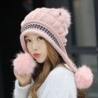 US $8.23 25% OFF|Fashion Women's Winter Mink Hats Fur Hats Knitting Fox Fur Hat Pom Poms Ball Beanie Caps Thick Skullies Female Cap Gorros-in Women's Skullies & Beanies from Apparel Accessories on Aliexpress.com | Alibaba Group