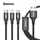 239.72 руб. 30% СКИДКА|Baseus 3in1 2in1 USB кабель для iPhone X, 8, 7, 6, кабель Micro Тип usb C кабель для samsung S9 S8 Быстрый зарядный кабель 3A Зарядное устройство Шнур купить на AliExpress