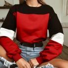 191.32 руб. 43% СКИДКА|KANCOOLD/Осенняя мода, лоскутные цветные свитшоты для женщин, 2018, толстовка с длинными рукавами, толстовки, топы, блузка, укороченный пуловер, PJ0719-in Толстовки и кофты from Женская одежда on Aliexpress.com | Alibaba Group