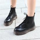 € 25.45 53% de DESCUENTO|COOTELILI Botas de motocicleta para mujer Botas de tobillo cuñas de encaje para mujer plataformas de otoño invierno zapatos Oxford de cuero para mujer tacones altos-in Botas hasta el tobillo from zapatos on Aliexpress.com | Alibaba Group